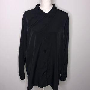 TR Bentley black button down shirt